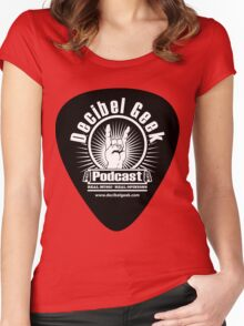 Decibel Geek Guitar Pick! Women's Fitted Scoop T-Shirt