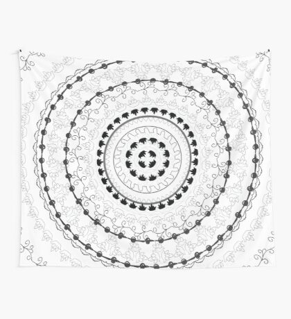 Black and White Mandala Tapestry Hippie Wall-Decor Wall Tapestry