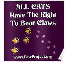 Right to Bear Claws - Color    Poster