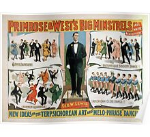 Performing Arts Posters Primrose Wests Big Minstrels all white performers 1734 Poster