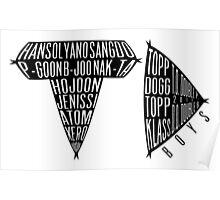 TOPP DOGG/TD Boys Logo Text + Member Names + Debut Date Poster