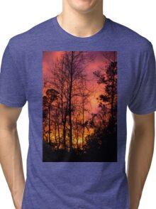 Sunset Sky Silhouette 2 Tri-blend T-Shirt