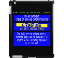 Pages From Ceefax iPad Case/Skin