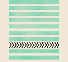 Mint Stripes and arrows by allyjcreative