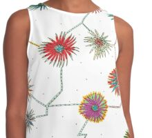 Travelling Daisy Pattern Design Contrast Tank