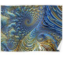 Ocean Tide At Sunset - Fractal Art Poster