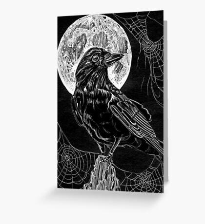 Midnight Crow Greeting Card