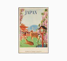 Vintage Travel Japan Deer Poster Unisex T-Shirt