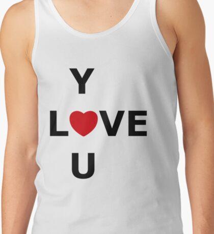 Simplistic LOVE YOU Tank Top