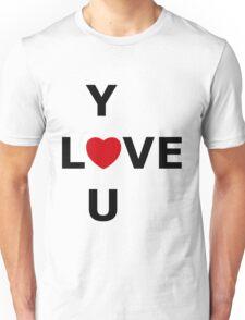 Simplistic LOVE YOU Unisex T-Shirt