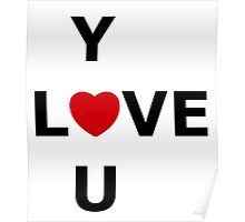 Simplistic LOVE YOU Poster