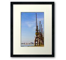 Port craines from Porto Alegre city - Brazil. Framed Print