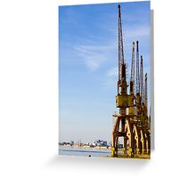 Port craines from Porto Alegre city - Brazil. Greeting Card