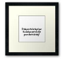 Steve Jobs Quote  Framed Print