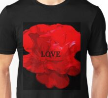 Love and the red flower Unisex T-Shirt