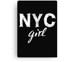 NYC New York City girl  Canvas Print