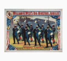 Performing Arts Posters William H Wests Big Minstrel Jubilee 1770 Kids Tee