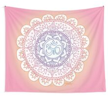 Peaceful Ohm Mandala Design Wall Tapestry
