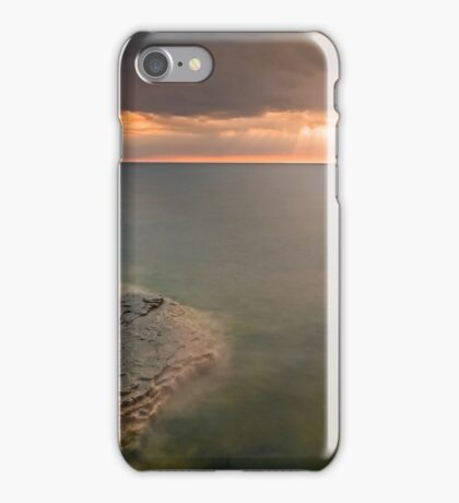Moody Lake Michigan Sunrise on Wisconsin Coast iPhone Case/Skin