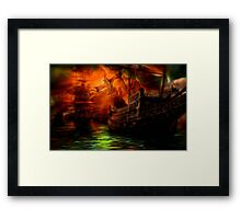 She is coming Framed Print