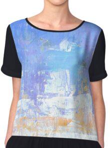 Blue aqua abstract no 45 Chiffon Top