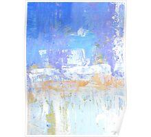 Blue aqua abstract no 45 Poster