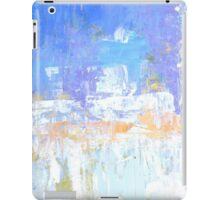 Blue aqua abstract no 45 iPad Case/Skin