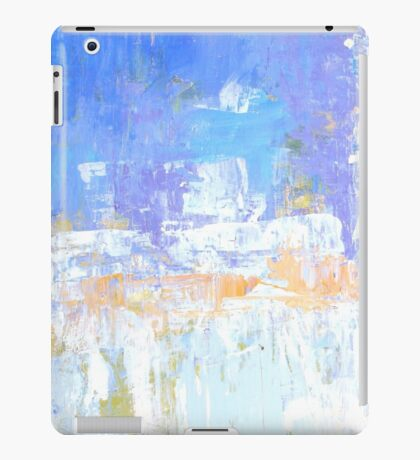 Blue aqua abstract no 45 iPad Case/Skin