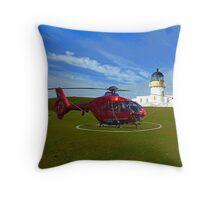Fair Isle North Lighthouse Throw Pillow
