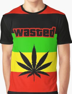 Wasted (Smoke weed) Graphic T-Shirt