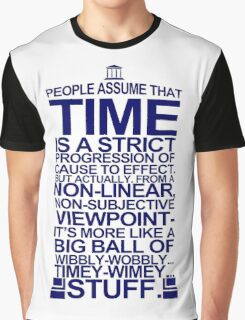 DOCTOR WHO TYPOGRAPHY Doc Dr BBC Tardis Time Dalek New Tenth Timey Wimey Graphic T-Shirt