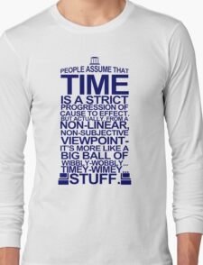 DOCTOR WHO TYPOGRAPHY Doc Dr BBC Tardis Time Dalek New Tenth Timey Wimey Long Sleeve T-Shirt