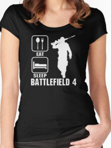 Eat Sleep Battlefield 4 Women's Fitted Scoop T-Shirt