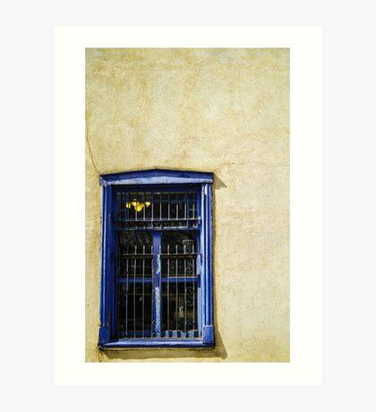 Vintage window Adobe wall Art Print
