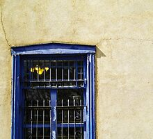 Vintage window Adobe wall by psankey