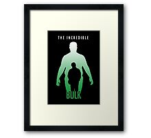 The Incredible Bulk Framed Print