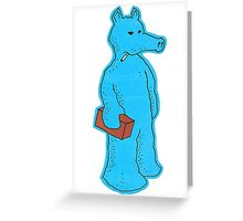 Blue Quasimoto Greeting Card