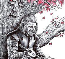 Eddard Stark Under the Weirwood Tree by Anthony McCracken