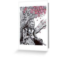 Eddard Stark Under the Weirwood Tree Greeting Card
