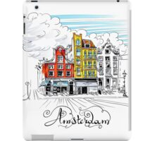 Amsterdam typical houses, Holland, Netherlands iPad Case/Skin