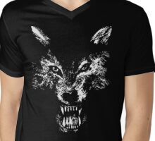Wolf Growl Snarl  Mens V-Neck T-Shirt