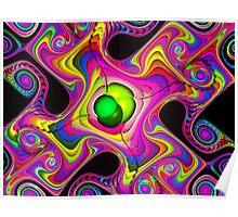 melting rainbow gnarls Poster
