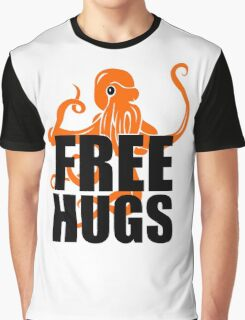 FREE HUGS Funny Humor PEACE AND LOVE Big Bold Hippie TRENDY PARTY Graphic T-Shirt