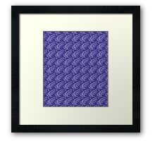 Purple Lines Framed Print