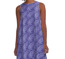 Purple Lines A-Line Dress