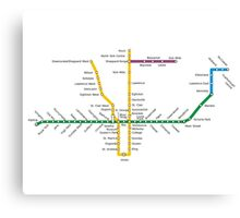 Toronto Subway Canvas Print