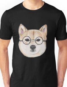 Shiba Inu With Round Glasses Unisex T-Shirt