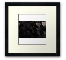 Black Abstract Framed Print