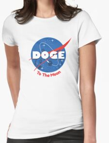 Doge Nasa Womens Fitted T-Shirt