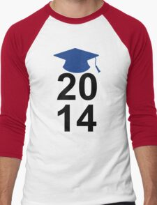 Graduation Class of 2014 High School College Senior Gift 2 Men's Baseball ¾ T-Shirt